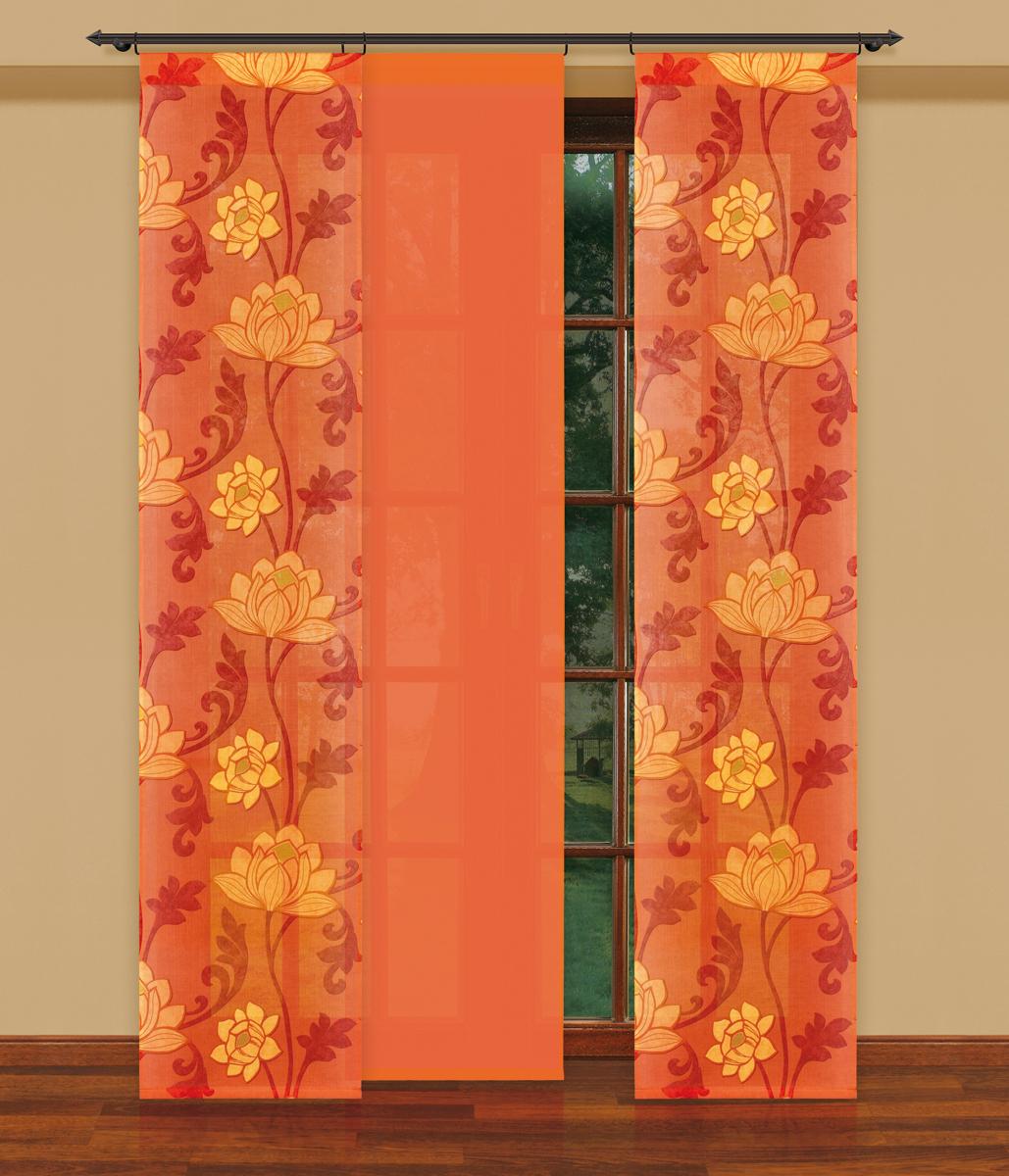 Гардина-панно Haft цвет: оранжевый, высота 250 см. 202240/50