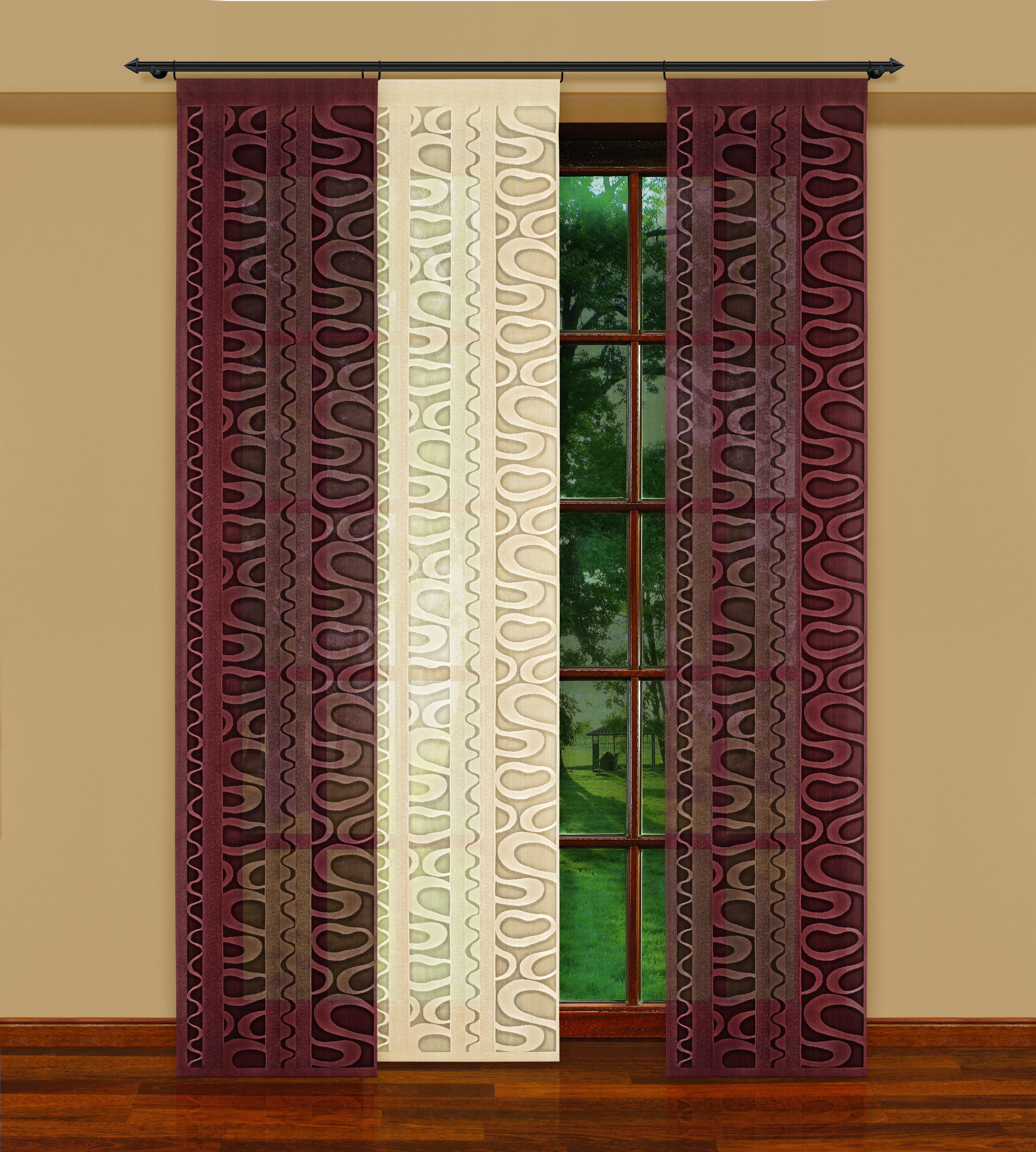 Гардина-панно Haft, цвет: коричневый, высота 250 см