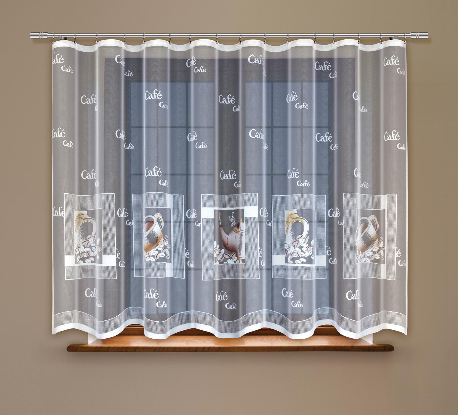 Гардина Haft, на ленте, цвет: белый, высота 160 см. 219160/160219160/160Жаккардовая гардина Haft, выполненная из полиэстера, великолепно украсит любое окно. Изделие имеет оригинальный дизайн и органично впишется в интерьер помещения.Гардина крепится на карниз при помощи шторной ленты.