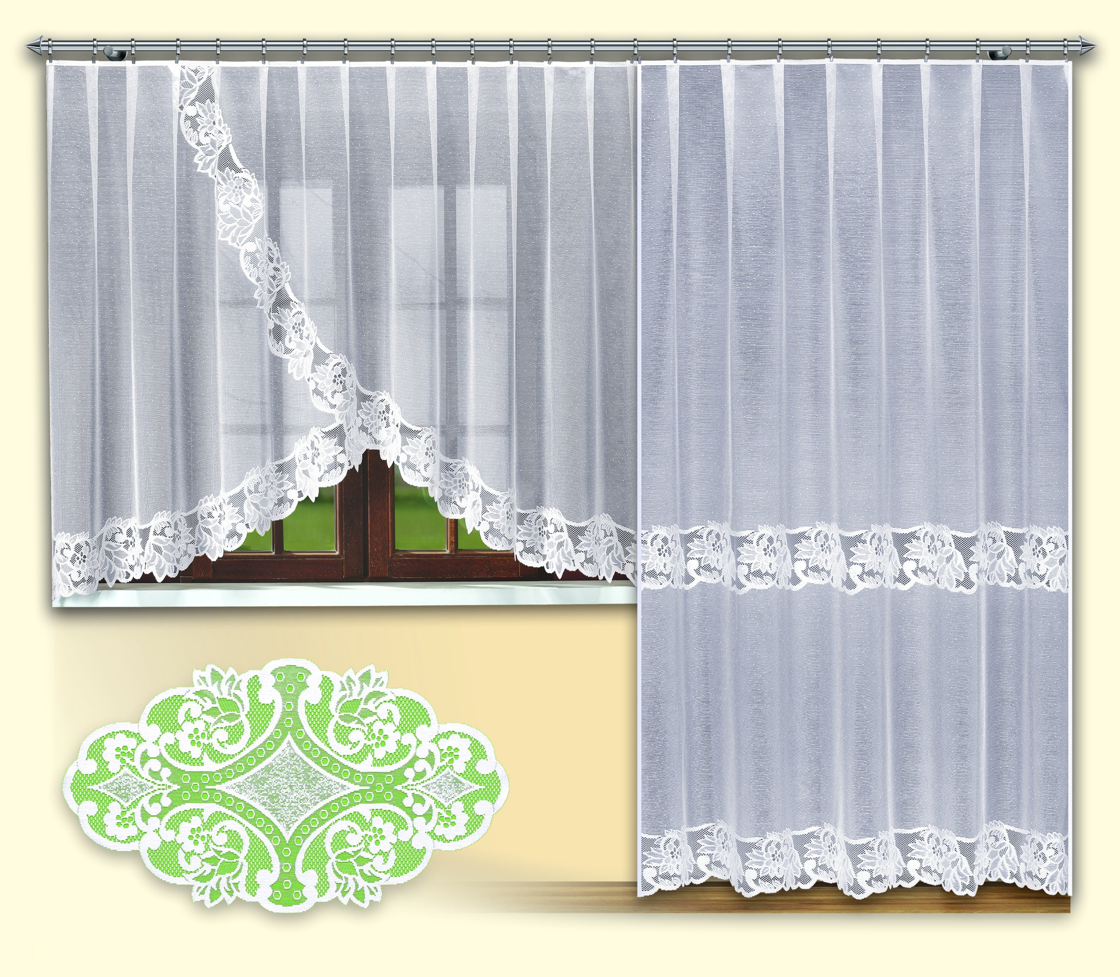 Комплект балконный HAFT 250*200+160*300+90*50. 46272/25046272/250Комплект балконный XAFT 250*200+160*300+90*50. 46272/250Материал: 100% п/э, размер: 250*200+160*300+90*50, цвет: белый