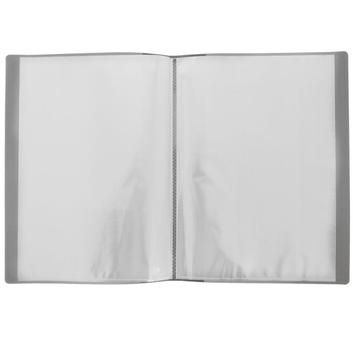 ProffПапка с файлами Next 40 листов цвет серый Proff