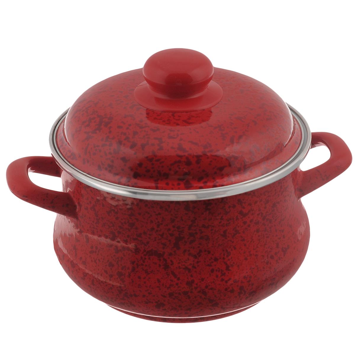 Кастрюля эмалированная Мetrot Рубин, с крышкой, цвет: красный, 2 л82874Кастрюля Мetrot Рубин оригинальной формы Эмина, с расширенными стенками внизу, изготовлена из стали с красным эмалированным покрытием. Внешние стенки оформлены деколью под рубиновый камень. Эмаль инертна и устойчива к пищевым кислотам, не вступает во взаимодействие с продуктами и не искажает их вкусовые качества. Эмалевое покрытие, являясь стекольной массой, не вызывает аллергию и надежно защищает пищу от контакта с металлом. Кроме того, такое покрытие долговечно, оно устойчиво к механическому воздействию, не царапается и не сходит, а стальная основа практически не подвержена механической деформации, благодаря чему срок эксплуатации увеличивается. Кастрюля оснащена двумя удобными ручками и крышкой из стали. Крышка с ободом плотно прилегает к краю кастрюли, предотвращая проливание жидкости и сохраняя аромат блюд.Изделие подходит для всех типов плит, включая индукционные. Можно мыть в посудомоечной машине. Кастрюля Мetrot Рубин - это идеальный подарок для современных хозяек, которые следят за своим здоровьем и здоровьем своей семьи. Эргономичный дизайн и функциональность позволят вам наслаждаться процессом приготовления любимых, полезных для здоровья блюд. Объем: 2 л. Диаметр: 16 см. Высота стенки: 10,5 см.