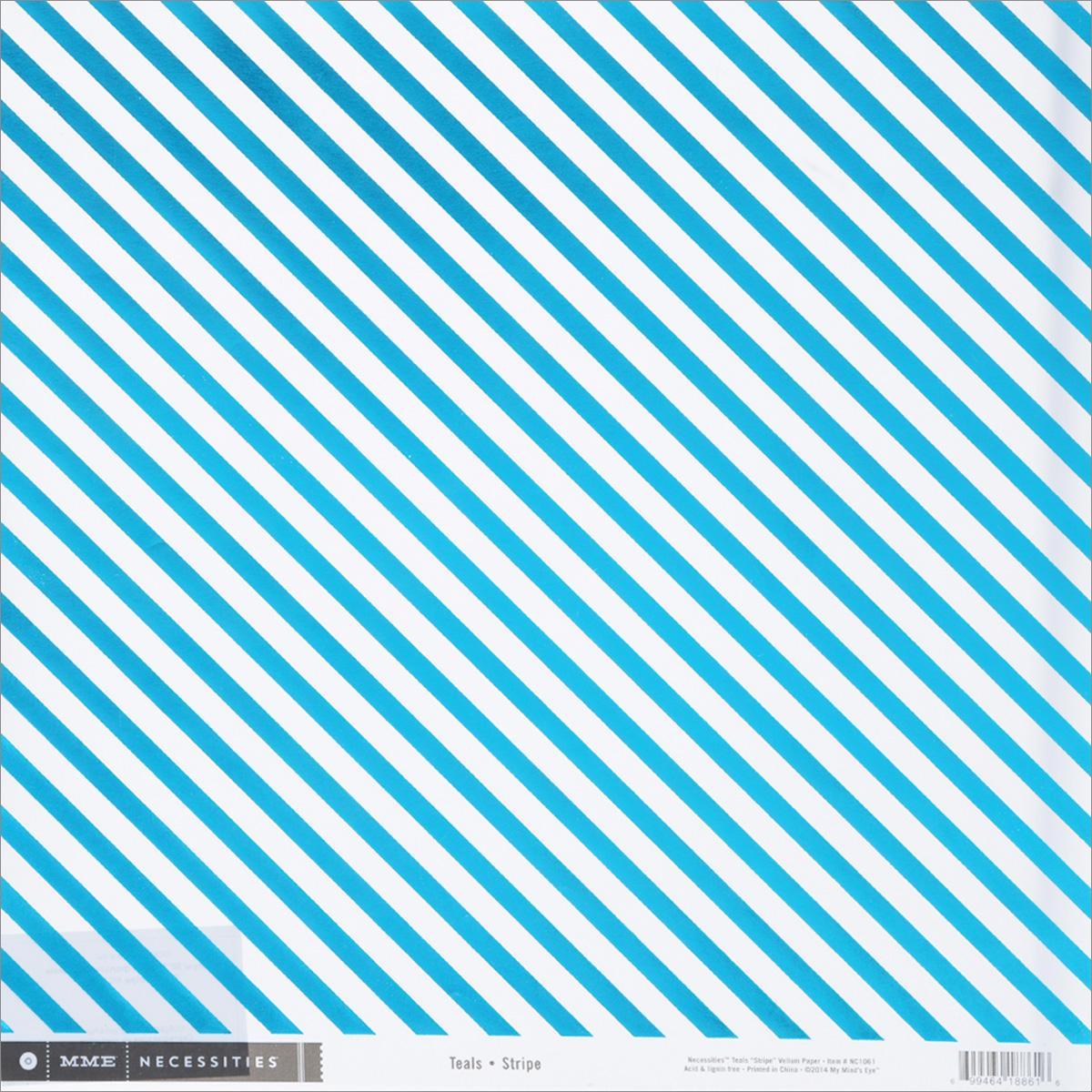 Веллум My Minds Eye Teals Stripe, 30,5 х 30,5 смNC1061Веллум My Minds Eye Teals Stripe прекрасно подойдет для оформления творческих работ в технике скрапбукинга. Веллум - это вид бумаги, который переводится как калька, хотя он гораздо плотнее и более однороден по фактуре. Его можно использовать для украшения фотоальбомов, скрап-страничек, подарков, конвертов, фоторамок, открыток и многого другого. Веллум оформлен бирюзовыми фольгированными полосками. Скрапбукинг - это хобби, которое способно приносить массу приятных эмоций не только человеку, который этим занимается, но и его близким, друзьям, родным. Это невероятно увлекательное занятие, которое поможет вам сохранить наиболее памятные и яркие моменты вашей жизни, а также интересно оформить интерьер дома. Размер листа: 30,5 см х 30,5 см. Плотность: 80 г/м2.