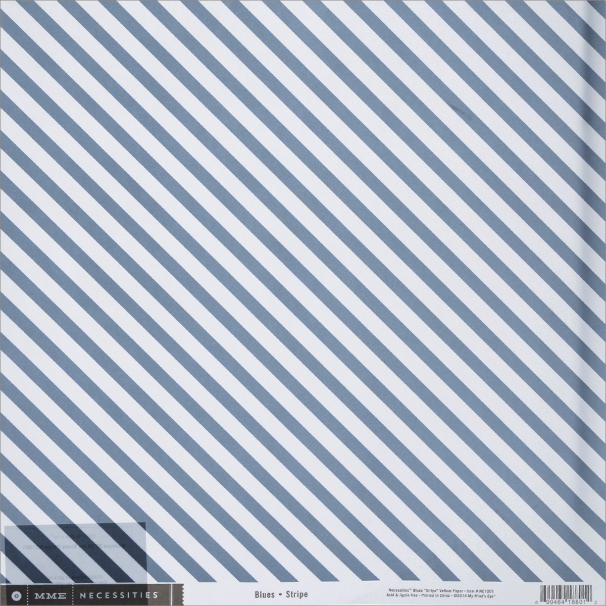 Веллум My Minds Eye Blues Stripe, цвет: синий, 30,5 см х 30,5 смNC1001Веллум My Minds Eye Blues Stripe прекрасно подойдет для оформления творческих работ в технике скрапбукинга. Веллум - это вид бумаги, который переводится как калька, хотя он гораздо плотнее и более однороден по фактуре. Его можно использовать для украшения фотоальбомов, скрап-страничек, подарков, конвертов, фоторамок, открыток и многого другого. Веллум оформлен синими полосами. Скрапбукинг - это хобби, которое способно приносить массу приятных эмоций не только человеку, который этим занимается, но и его близким, друзьям, родным. Это невероятно увлекательное занятие, которое поможет вам сохранить наиболее памятные и яркие моменты вашей жизни, а также интересно оформить интерьер дома. Размер листа: 30,5 см х 30,5 см. Плотность: 80 г/м2.
