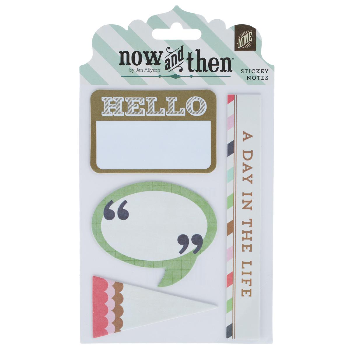 Стикеры-украшения My Minds Eye Hello Sticky Notes. NT1061NT1061Стикеры-украшения My Minds Eye Hello Sticky Notes, выполненные из бумаги, прекрасно подойдут для оформления творческих работ в технике скрапбукинг. Их можно использовать для украшения фотоальбомов, скрап-страничек, подарков, конвертов, фоторамок, открыток и многого другого. Один конец задней стороны клейкий. Скрапбукинг - это хобби, которое способно приносить массу приятных эмоций не только человеку, который этим занимается, но и его близким, друзьям, родным. Это невероятно увлекательное занятие, которое поможет вам сохранить наиболее памятные и яркие моменты вашей жизни, а также интересно оформить интерьер дома.Размер наибольшего стикера: 12,7 см х 1,7 см.Размер наименьшего стикера: 6,5 см х 3,2 см.