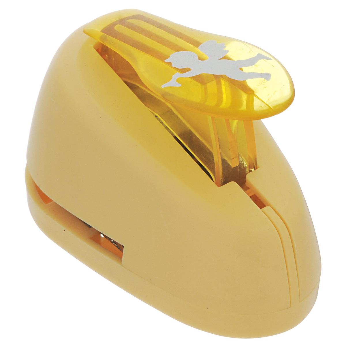 Дырокол фигурный Астра Ангел. 7709605_17709605_1 - ангелДырокол Астра Ангел, изготовленный из прочного металла и пластика, поможет вам легко, просто и аккуратно вырезать много одинаковых мелких фигурок. Режущие части компостера закрыты пластиковым корпусом, что обеспечивает безопасность для детей. Вырезанные фигурки в виде ангелов накапливаются в специальном резервуаре.Можно использовать вырезанные мотивы как конфетти или для наклеивания.Дырокол подходит для разных техник: декупажа, скрапбукинга, декорирования.Размер дырокола: 8 см х 5 см х 5 см. Размер готовой фигурки: 2 см х 2,5 см.