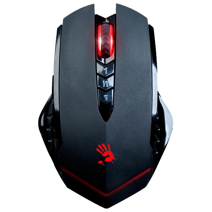 A4Tech Bloody R8, Black игровая мышь775475A4Tech Bloody R8 - беспроводная игровая мышь высокого качества с показателями как у проводных аналогов.Пятиступенчатая защита беспроводного сигнала защищает его и исключает его потерю при работе. Уникальная технология Ahead сокращает время отклика мыши до 1 мс, в то время как у обычной мыши - 18 мс. Отсутствие случайных двойных кликов сохранит долговечность кнопок.Предусмотрен Простой, Более сложный и Высокий уровень сложности для всех игр. Core1 подойдет для ролевой игры, Core2 - для FPS игр, а Core3 - для более продвинутых FPS игр (Ultra-core 3 приобретается дополнительно).8 программируемых кнопокДля шутеров от первого лица предусмотрены три режима стрельбы на левую кнопку. Левой кнопкой переключайте оружие, а кнопками 1, N и 3 - выстрелы. один выстрел, стрейф или тройной выстрел для стрельбы в любой игре.