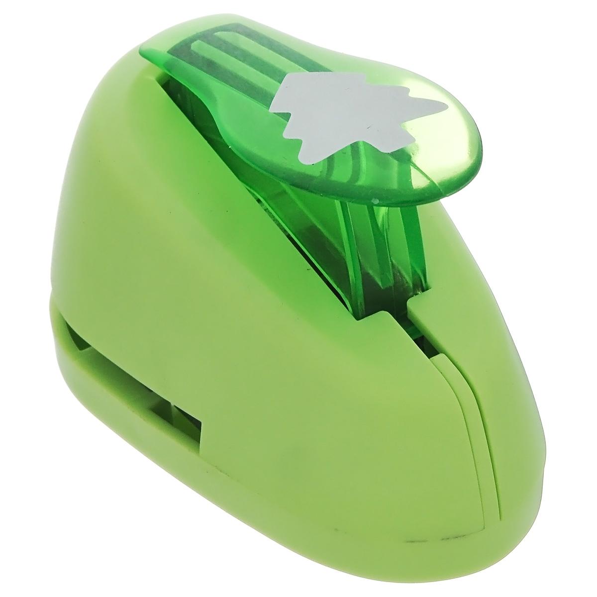 Дырокол фигурный Астра Елочка, цвет: салатовый. 7709605_267709605_26 - салатовыйДырокол Астра Елочка, изготовленный из прочного металла и пластика, поможет вам легко, просто и аккуратно вырезать много одинаковых мелких фигурок.Режущие части компостера закрыты пластиковым корпусом, что обеспечивает безопасность для детей.Вырезанные фигурки в виде елочек накапливаются в специальном резервуаре. Можно использовать вырезанные мотивы как конфетти или для наклеивания. Дырокол подходит для разных техник: декупажа, скрапбукинга, декорирования. Размер дырокола: 8 х 5 х 5 см.Размер готовой фигурки: 2 х 2 см.