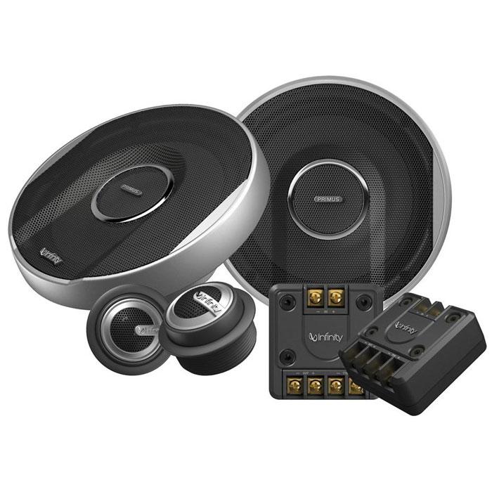 Infinity PR6500CS автоакустика компонентнаяPR6500CSInfinity Primus PR-6500cs - компонентная двухполосная акустическая система, диаметром 165 мм.Отличительные особенности Infinity Primus PR-6500cs - сочетание потрясающей глубины, нехарактерной для динамиков подобного размера, чистоты и динамики звука.Добиться более громкого и мощного звучания помогает более эффективная система охлаждения - вы получите гарантированный звук Infinity. Кроме того, во всех моделях серии Infinity Primus используются внешние кроссоверы, улучшающие звучание во всем диапазоне частот.