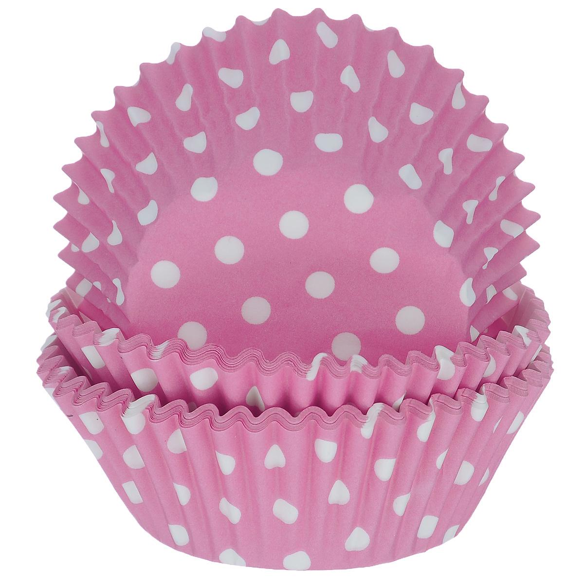 Набор бумажных форм для кексов Dolce Arti Горошек, цвет: розовый, диаметр дна 5 см, 50 штDA080205Набор Dolce Arti Горошек состоит из 50 бумажных форм для кексов, оформленных принтом в горох. Они предназначены для выпечки и упаковки кондитерских изделий, также могут использоваться для сервировки орешков, конфет и много другого. Для одноразового применения. Гофрированные бумажные формы идеальны для выпечки кексов, булочек и пирожных.Высота стенки: 3 см. Диаметр (по верхнему краю): 7 см.Диаметр дна: 5 см.