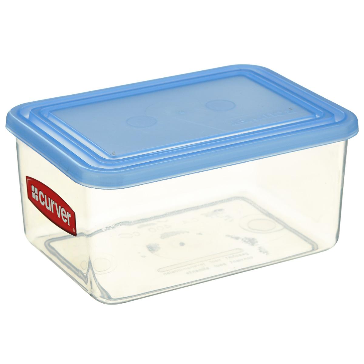 """Емкость для заморозки и СВЧ """"Curver"""" изготовлена из высококачественного пищевого пластика. Стенки емкости прозрачные, а крышка цветная. Она плотно закрывается, дольше сохраняя продукты свежими. Емкость удобно брать с собой на работу, учебу, пикник и дачу.  Можно использовать в микроволновой печи и для заморозки в морозильной камере."""