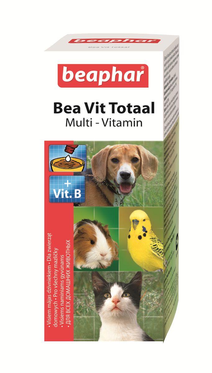 Витамины Beaphar  Bea Vit Totaal , для кошек, собак, птиц, грызунов, 50 мл - Ветеринарная аптека