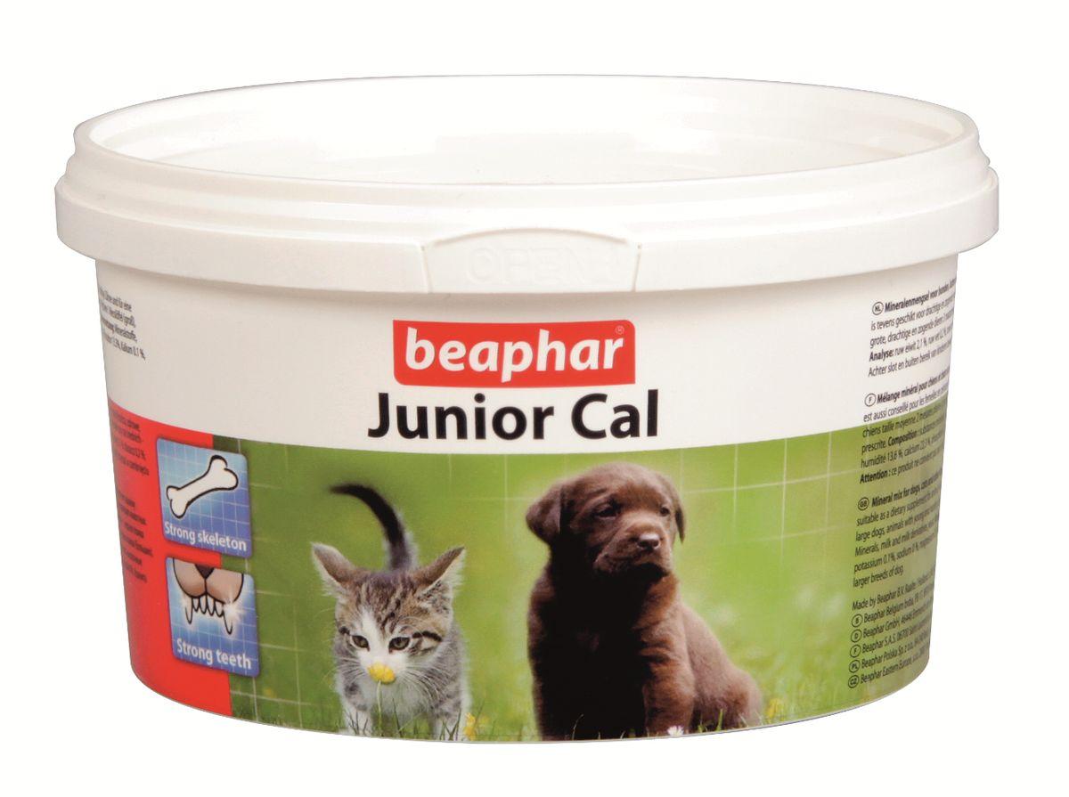 Минеральная смесь Beaphar Junior Cal, для кошек и собак, 200 г белковая добавка для животных г иркутск