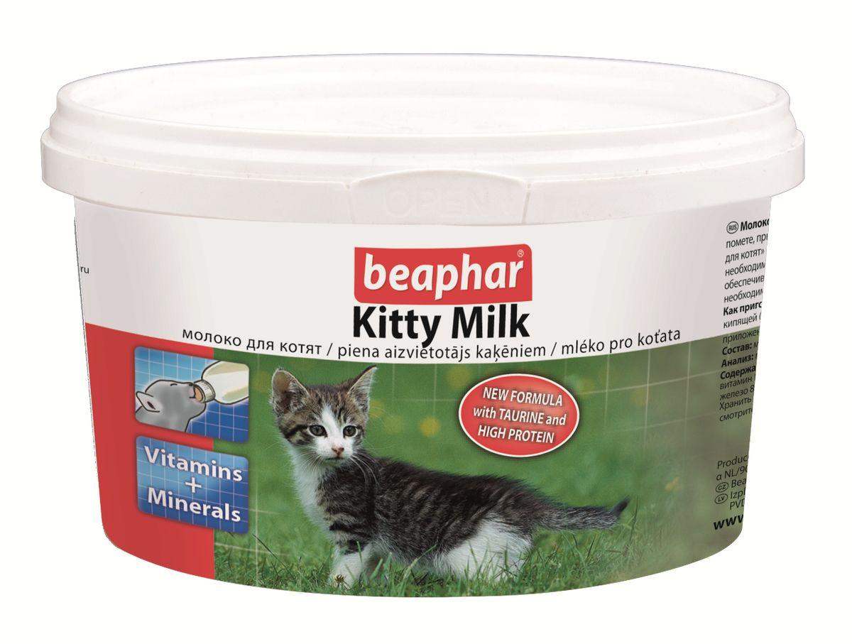 Молочная_смесь_Beaphar_~Kitty_Milk~_-_полноценная_замена_материнского_молока_для_осиротевших,_брошенных_или_потерявшихся_котят,_котят_рожденных_в_многочисленном_помете,_при_отъеме_от_груди,_и_как_дополнительное_кормление_для_беременных_и_кормящих_самок,_больных_или_выздоравливающих_взрослых_животных._Молочная_смесь_может_быть_использована,_как_основное_кормление_для_котят_с_рождения_до_35_дней,_или_как_дополнительное,_как_для_котят,_так_и_для_их_мам_при_необходимости,_а_также_для_кошек_во_время_беременности_или_кормления_котят,_увеличивая_выработку_натурального_молока._Коровье_молоко_не_полностью_обеспечивает_котят_необходимым_количеством_протеина_и_жиров._Молочная_смесь_Beaphar_~Kitty_Milk~_-_это_полноценная_замена_материнского_молока,_содержащая_все_необходимые_питательные_вещества_и_жиры_в_правильном_соотношении,_и_все_необходимые_аминокислоты,_витамины,_минералы_и_микроэлементы._Белки,_содержащиеся_в_смеси_сделаны_в_особой,_легко_усваиваемой_форме,_что_является_большим_преимуществом_для_котят._Состав:_молоко_и_молочные_продукты,_масла_и_жиры,_минеральные_вещества._Анализ:_протеин_32%25;_масла_и_жиры_24%25,_клетчатка_0%25,_зола_7%25;_влага_3,5_%25;_кальций_0,86%25,_фосфор_0,60%25,_натрий_0,50%25,_магний_0,16%25,_калий_1,40%25._Содержание_витаминов_и_минеральных_веществ_в_1_кг:_витамин_A_215000_МЕ,_витамин_B1_5_мг,_витамин_B2_3,0_мг,_пантотеновая_кислота_10,0_мг,_никотиновая_кислота_20,0_мг,_витамин_B6_3,0_мг,_витамин_B12_0,02_мг,_витамин_С_620_мг,_витамин_Е_210_мг,_биотин_0,05_мг,_витамин_К3_3_мг,_холин_850_мг,_железо_80_мг,_марганец_30_мг,_медь_0,2_мг,_йод_0,25_мг,_цинк_40_мг,_селен_0,20_мг,_таурин_3,08_г,_ДЛ-метионин_3,0_г,_антиоксиданты._Вес_упаковки:_200_г._Товар_сертифицирован.