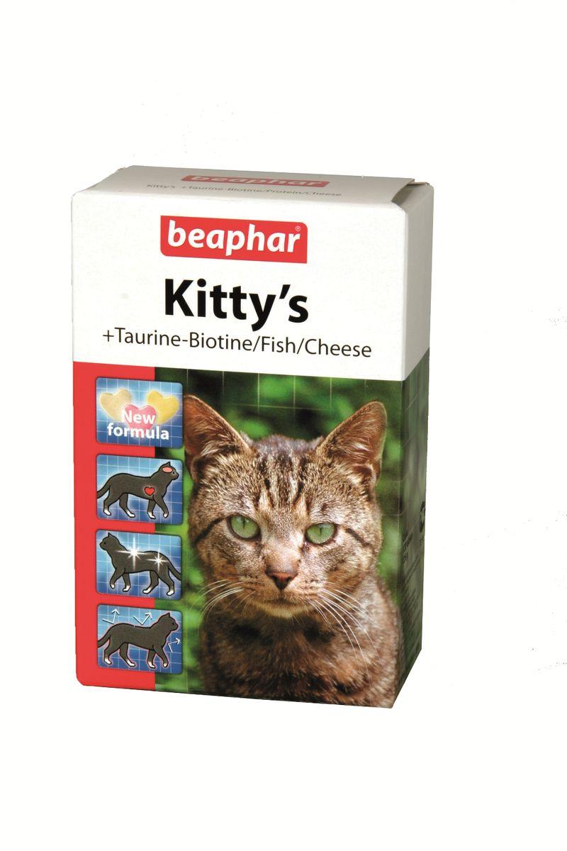Лакомство витаминизированное Beaphar Kitty's Mix для кошек, 180 таблеток капстар таблетки для кошек москва купить