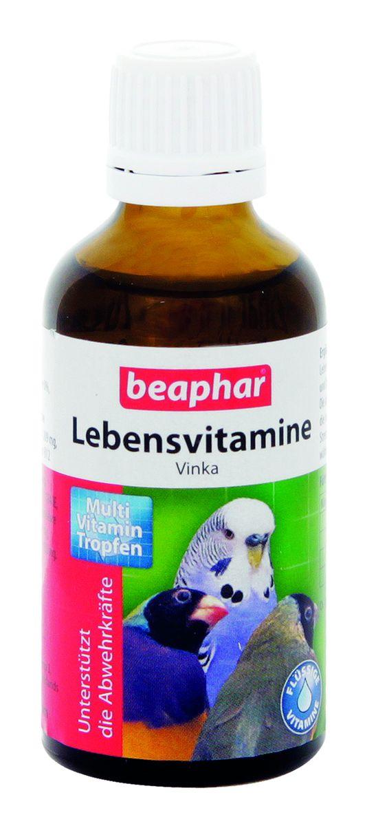 Витамины для птиц Beaphar Lebensvitamine, для укрепления иммунитета, 50 мл beaphar beaphar mausertropfen витаминные капли для птиц в период линьки 50 мл