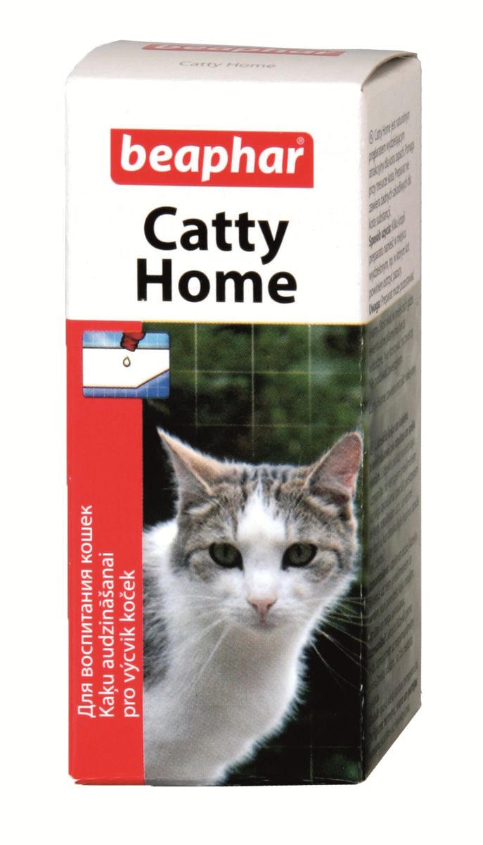 Средство для приучения кошек к месту Beaphar Catty Home, 10 мл beaphar beaphar mausertropfen витаминные капли для птиц в период линьки 50 мл