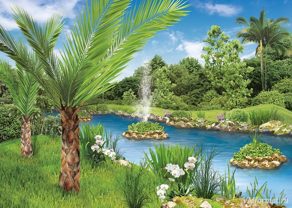 Фотообои Твоя Планета Premium. Уютный парк, 8 листов, 272 см х 194 см фотообои твоя планета премиум начало лета 291 х 272 см 12 листов