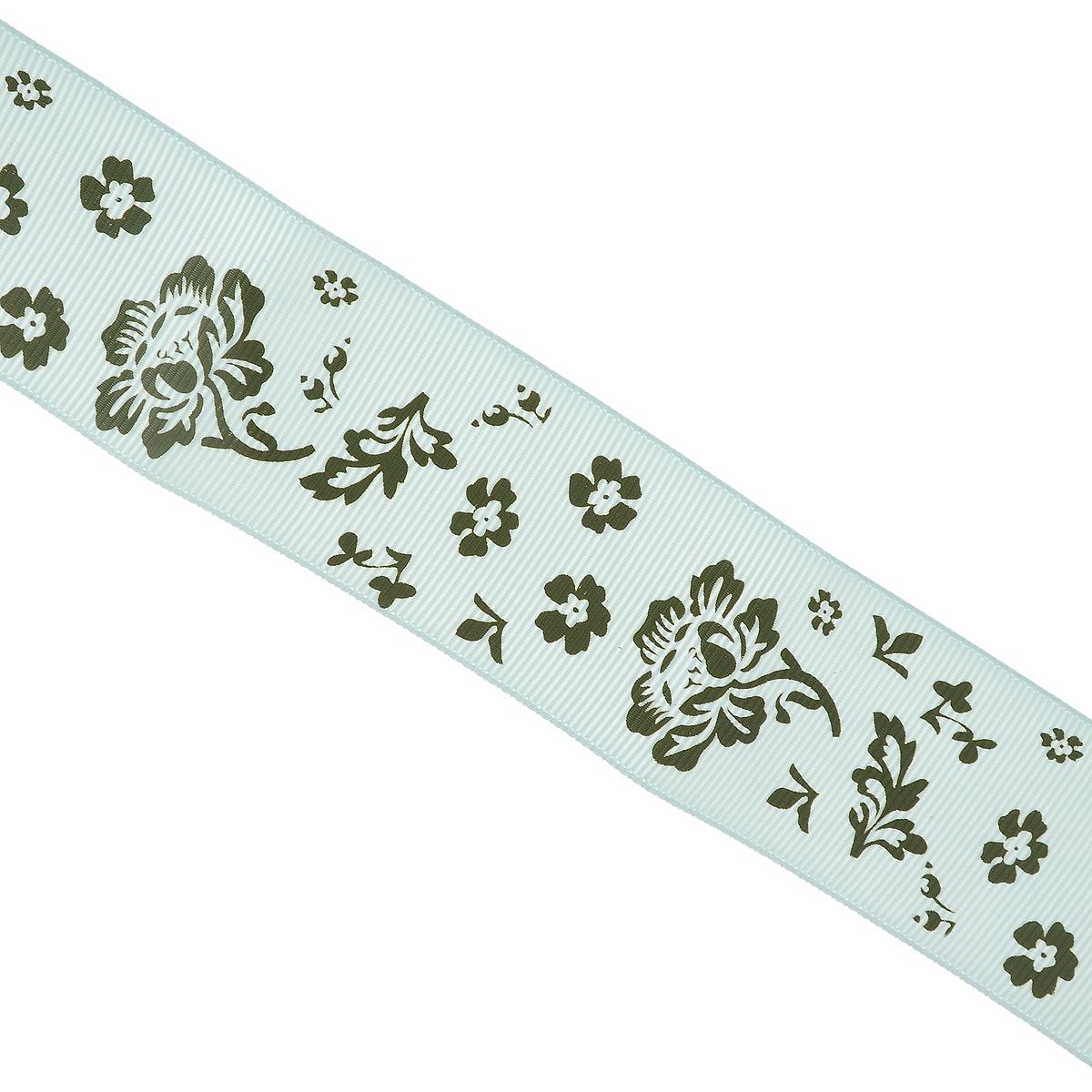 Лента декоративная Vintage Line, цвет: белый, зеленый, ширина 3,8 см, длина 1 м. 77092907709290_белый/зеленыйДекоративная лента Vintage Line выполнена из текстиля и оформлена цветочным принтом. Такая лента идеально подойдет для оформления различных творческих работ таких, как скрапбукинг, аппликация, декор коробок и открыток и многое другое. Лента наивысшего качества практична в использовании. Она станет незаменимым элементом в создании рукотворного шедевра. Ширина: 3,8 см.Длина: 1 м.