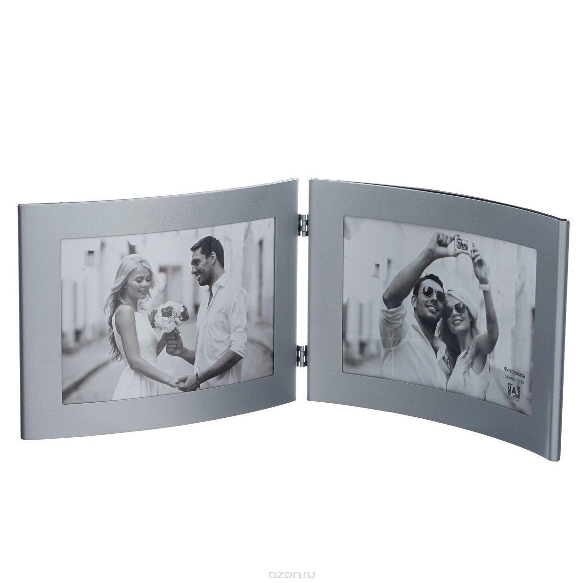 Фоторамка Image Art 6015/2-4S ( серебро) фоторамка букет роз на 2 фотографии