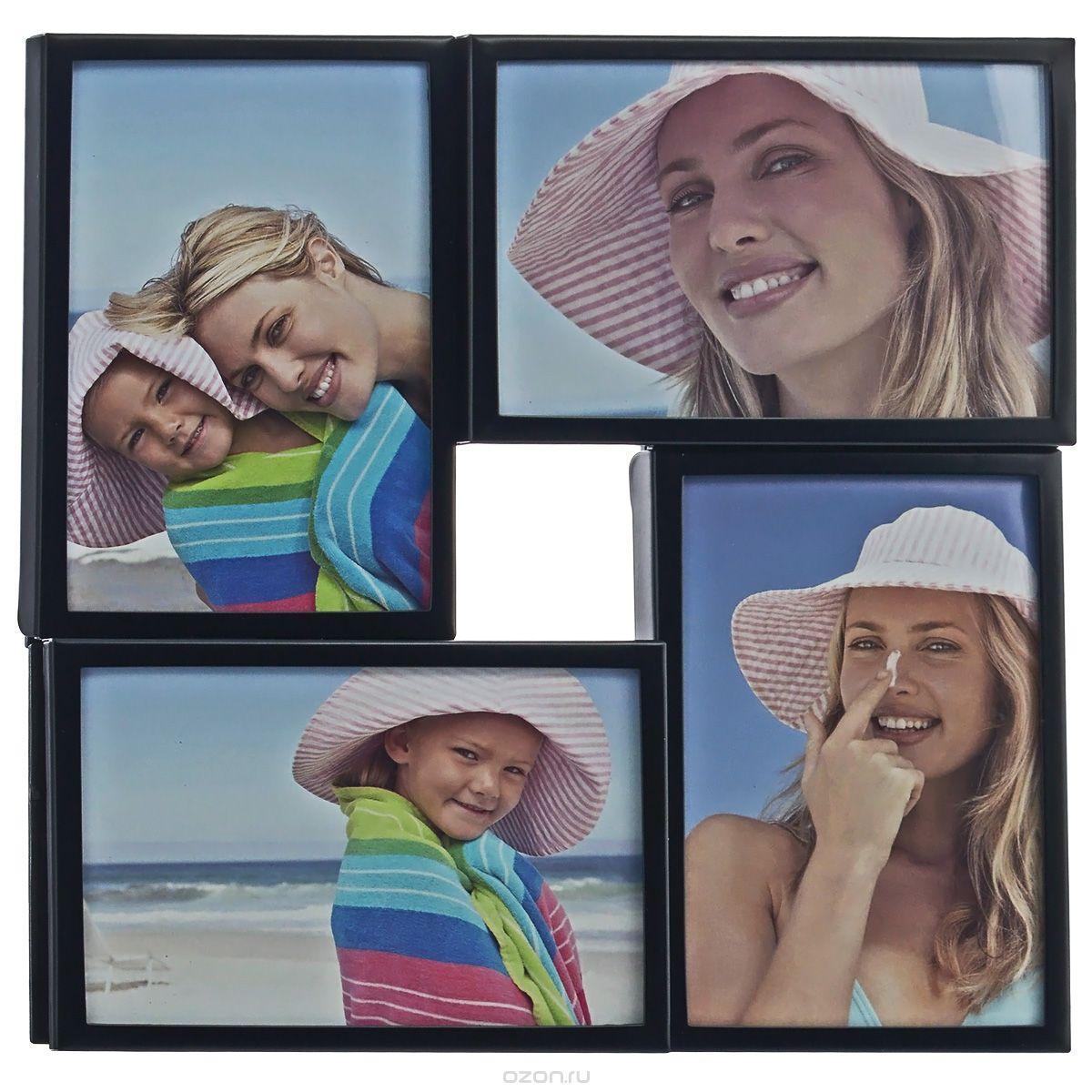 Фоторамка Image Art, цвет: черный, на 4 фото, 10 х 15 см 50553986005355055398600535Фоторамка-коллаж Image Art - прекрасный способ красиво оформить ваши фотографии. Изделие рассчитано на 4 фотографии. Фоторамка выполнена из металла и защищена стеклом. Фоторамку можно подвесить на стену, для чего с задней стороны предусмотрены специальные отверстия. Такая фоторамка поможет сохранить на память самые яркие моменты вашей жизни, а стильный дизайн сделает ее прекрасным дополнением интерьера.
