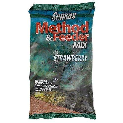 Прикормка Sensas Method Strawberry, цвет: красный, 1 кг
