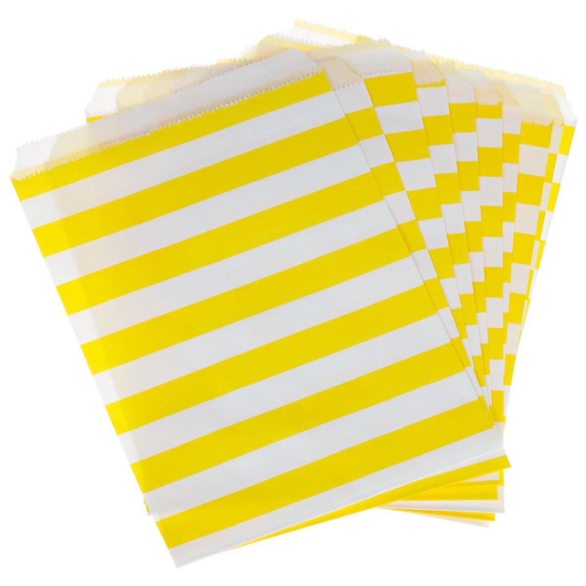 Пакеты бумажные Dolce Arti Stripes, для выпечки, цвет: желтый, 10 штDA040219Бумажные пакеты Dolce Arti Stripes очень многофункциональны. Их можно использовать насколько хватит вашей фантазии: для выпекания, для упаковки маленьких подарков, сладостей и многого другого. Размер: 13 см х 18 см.