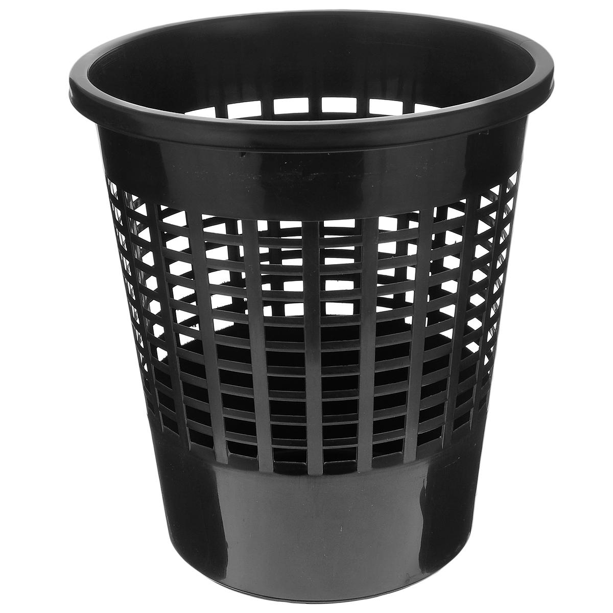 Корзина для бумаг Curver Basics, цвет: черный, высота 30 см корзина для хранения curver ribbon 24 17 12 см белый