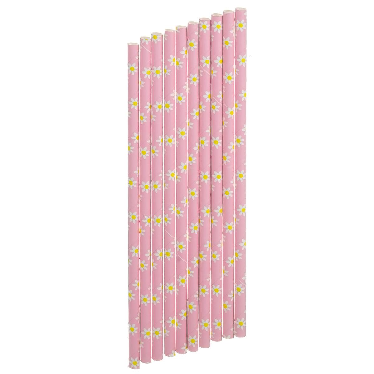 Набор бумажных трубочек Dolce Arti Ромашки, цвет: розовый, 10 штDA040222Набор Dolce Arti Ромашки состоит из 10 бумажных трубочек, предназначенных для напитков. Цветные трубочки станут не только эффектным украшением коктейлей, но и ярким штрихом вашего сладкого стола. С набором Dolce Arti Ромашки ваш праздник станет по-настоящему красочным!Длина трубочки: 19,5 см. Диаметр трубочки: 5 мм.