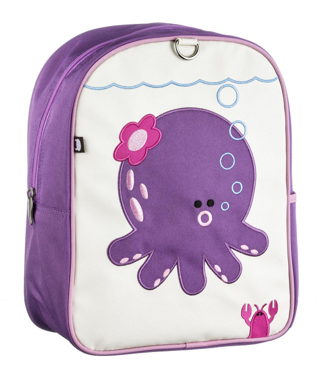 Рюкзак детский Beatrix Little Kid Penelope-Octopus, цвет: розовый, молочный, фиолетовыйSK-7380D-22Рюкзак Beatrix Penelope-Octopus обязательно привлечет внимание вашего ребенка.Выполнен из прочного и высококачественного материала и оформлен вышитой аппликацией с изображением забавного осьминога. Рюкзак состоит из вместительного отделения, закрывающегося на застежку-молнию. Бегунок застежки дополнен металлическим держателем. Внутри отделения находится врезной карман на застежке-молнии. На задней стенке рюкзака имеется нашивка, на которой можно указать данные владельца. Рюкзак с боку имеет один накладной внешний кармана на липучке. Мягкие широкие лямки позволяют легко и быстро отрегулировать рюкзак в соответствии с ростом. Рюкзак оснащен удобной текстильной ручкой для переноски в руке. Идеально подходит для хранения важных и необходимых вещей, которые так необходимы маленькому герою на детской площадке, во время прогулки или на пикнике.
