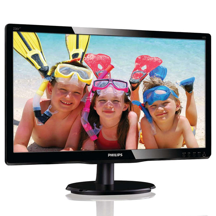 Philips 226V4LSB (00/01), Black монитор тостер philips hd 2637 00