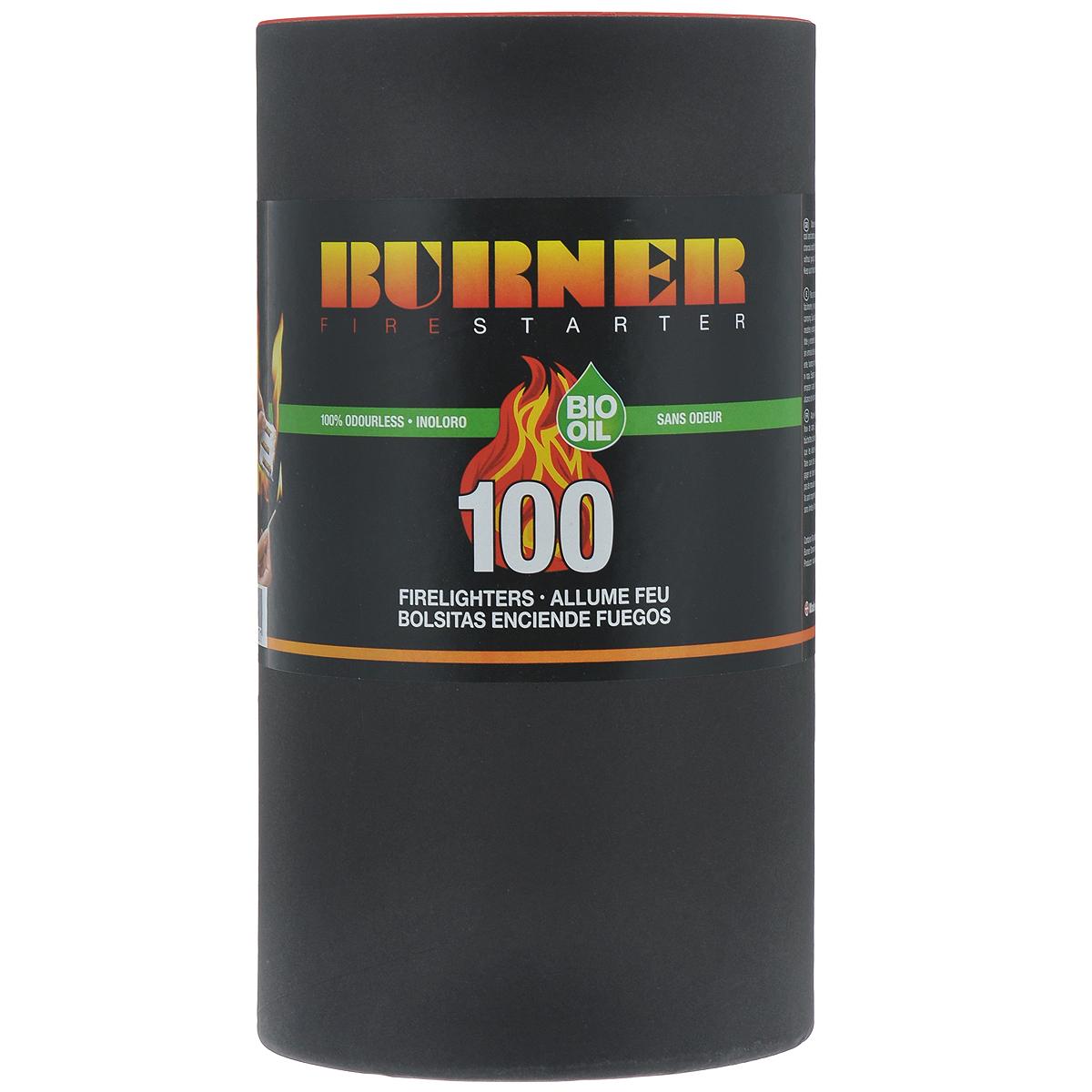 Средство для розжига Burner, в бочонке, 100 пакетов23100Розжиг Burner экологически безопасен, удобен в хранении и перевозке - никакой грязи и запахов. Идеальное средство для розжига мангалов, каминов, печей и костров. Кроме того, розжиг Burner не боится сырости и поэтому идеален в походе, на рыбалке, охоте, и в других достаточно экстремальных условиях, когда необходимо разжечь костер для обогрева или приготовления пищи.В комплект входит 100 пакетиков для розжига.Состав: высококачественные N-парафины, растительные масла.