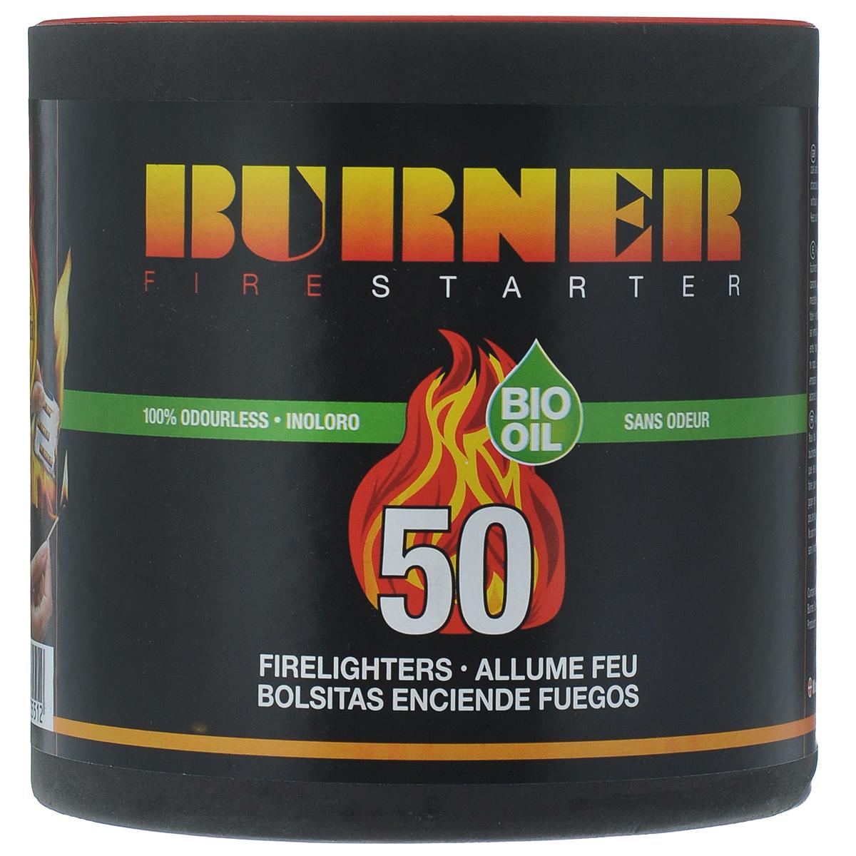 Средство для розжига Burner, в бочонке, 50 пакетов23050Розжиг Burner экологически безопасен, удобен в хранении и перевозке - никакой грязи и запахов. Идеальное средство для розжига мангалов, каминов, печей и костров. Кроме того, розжиг Burner не боится сырости и поэтому идеален в походе, на рыбалке, охоте, и в других достаточно экстремальных условиях, когда необходимо разжечь костер для обогрева или приготовления пищи.В комплект входит 50 пакетиков для розжига.Состав: высококачественные N-парафины, растительные масла.