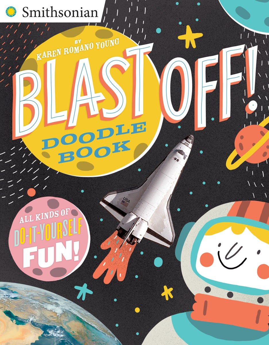 BLAST OFF! DOODLE BOOK smithsonian national air and spase museum набор из 100 карточек