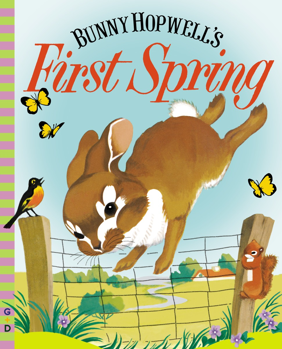 BUNNY HOPWELL'S FIRST SPRING spring in the garden flowers and seedlings