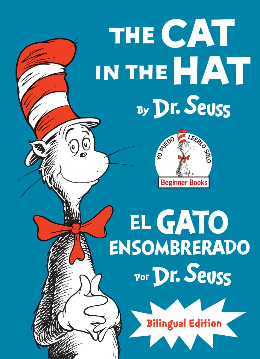 CAT IN THE HAT/EL GATO ENSOMBR dr seuss bilingual classical books a set of 8 volumes for children improvement edition english and simplifiedchinese hardcover