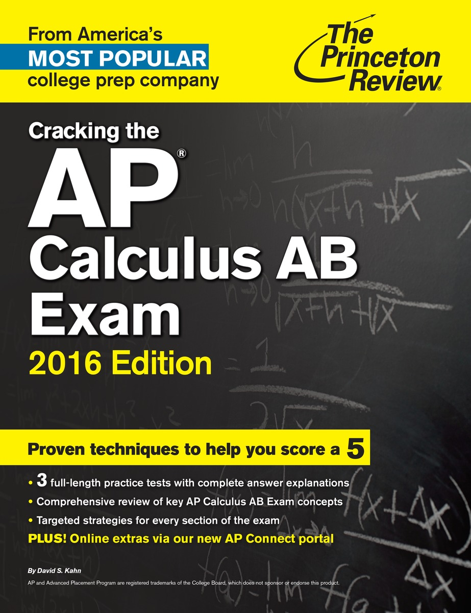 CRACK AP CALCULUS AB 2016 cracking the ged test 2017 edition