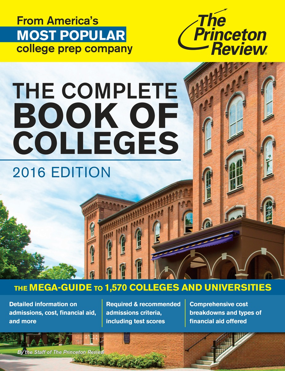 COMPLETE BOOK COLLEGES 2016 princeton review best 380 colleges 2016