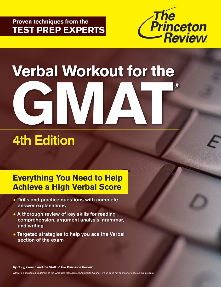 VERBAL WORKOUT FOR GMAT 4ED gre verbal and writing chinese edition