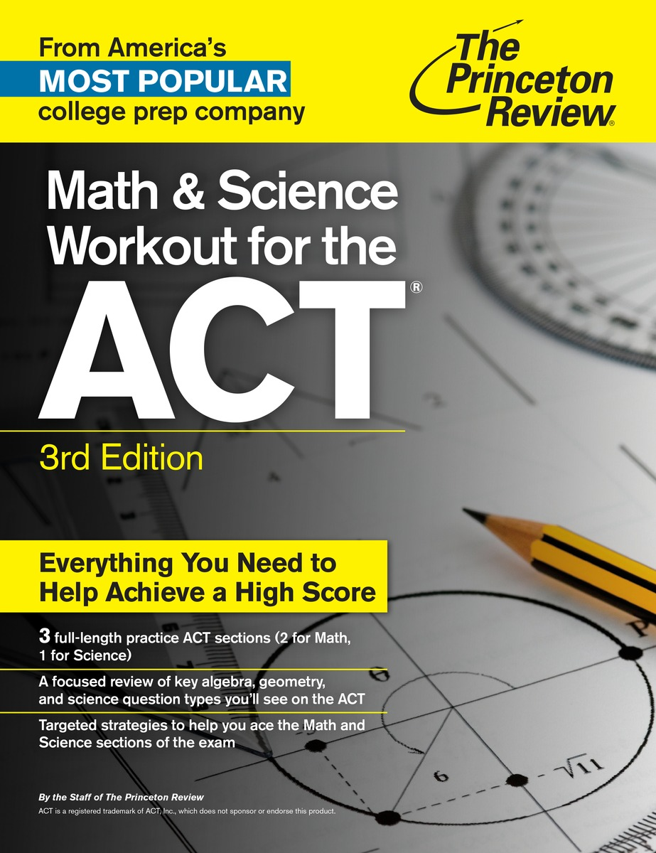 MATH SCIENCE WORKOUT ACT 3ED math workout for ged test