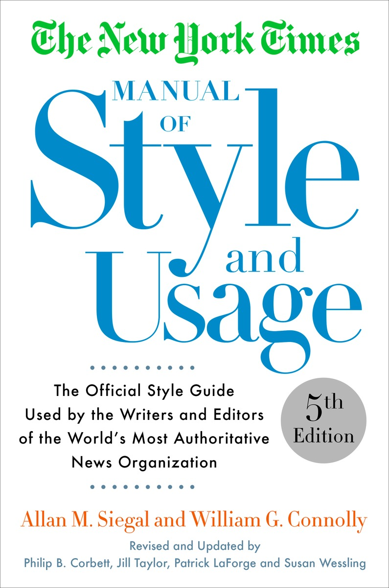 NYT MANUAL OF STYLE, 5TH ED