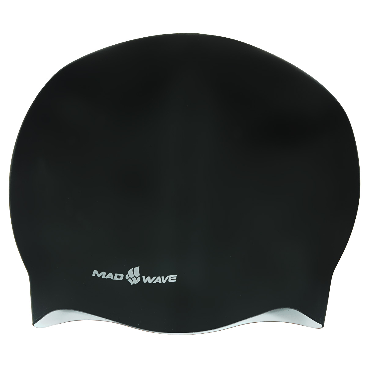 Шапочка для плавания Mad Wave Reverse Champion, цвет: черный, белый шапочки для плавания mad wave силиконовая шапочка reverse flora