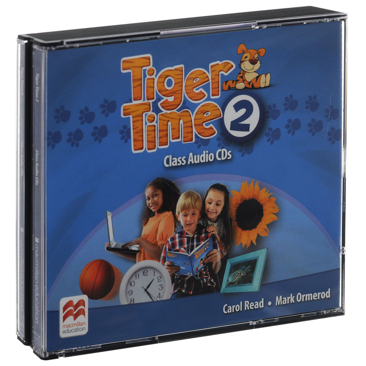 Tiger Time 2: Class Audio CDs (аудиокурс на 4 CD) super safari level 2 class audio cds 2
