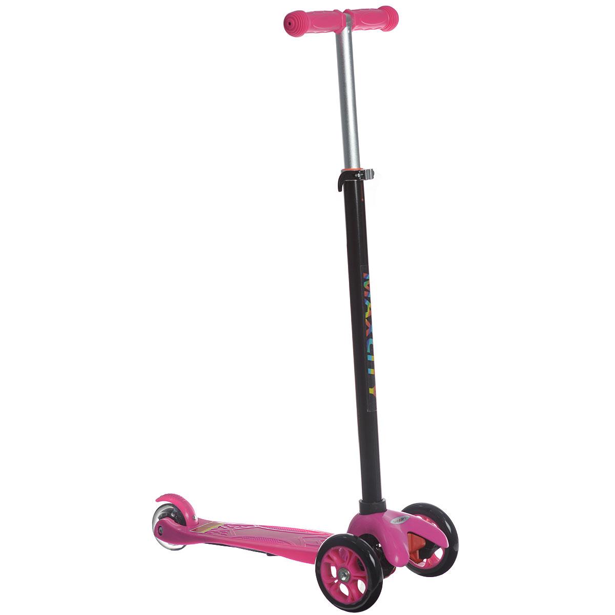 """Самокат трехколесный MaxCity """"Snoopy"""", цвет: розовый"""