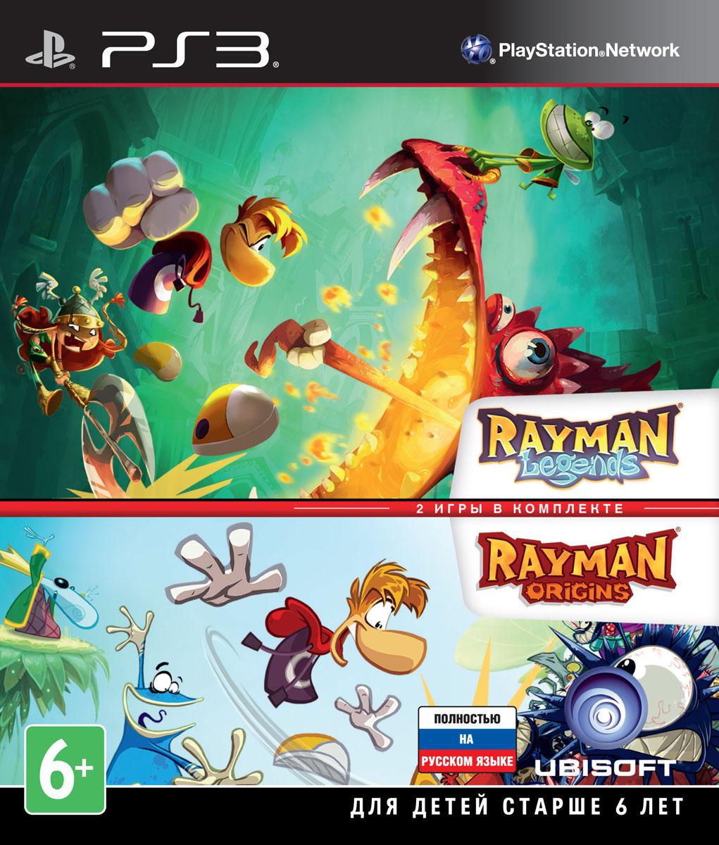 Комплект Rayman Legends + Rayman Origins (PS3) rayman raving rabbids