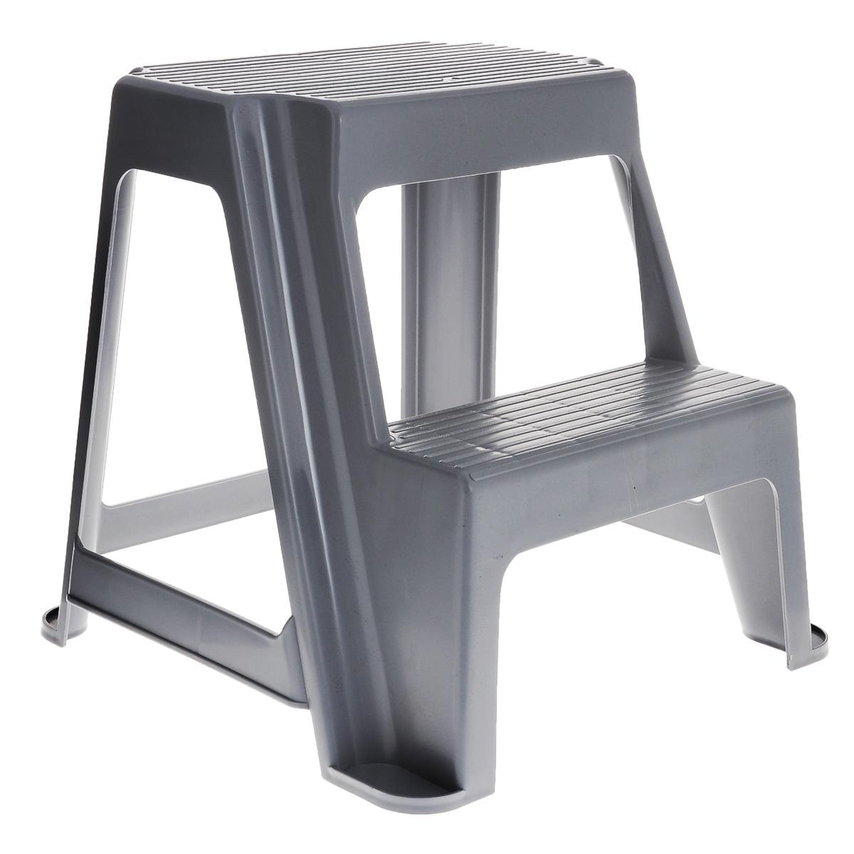Табурет универсальный Idea со ступенькой, цвет: серыйМ 2296Удобный и практичный табурет со ступенькой. Незаменимый предмет на кухне и на даче, в гараже и домашней библиотеке. Облегчит доступ к верхним полкам в домашнем пространстве. Легкий и прочный, выполняет две функции сразу: табурет и стремянка. Благодаря своей конструкции, табурет очень устойчив.Размер табурета: 39 см х 23 см.Высота ступеньки: 23 см.Ширина ступеньки: 13 см.Общая высота табурета: 46 см.
