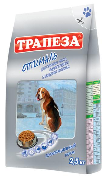 Корм сухой Трапеза Оптималь, для взрослых собак, содержащихся в городских условиях, 2,5 кг29751Сухой корм Трапеза Оптималь является вкусным и полезным питанием для взрослых собак, содержащихся в городских квартирах и ведущих малоактивных образ жизни. Рацион корма Трапеза Оптималь разработан с учетом специфических потребностей собак данной группы на основе исследований в области диетологии и питания собак. Рецепт корма сбалансирован по содержанию протеина, животных и растительных жиров, что обеспечивает высокую питательную ценность корма при контроле энергетического потенциала; содержит оптимальное количество клетчатки, необходимой для здорового пищеварения.Корма Трапеза снижают риск возникновения аллергических реакций благодаря отсутствию искусственных красителей и антиоксидантным свойствам витамина Е - натурального консерванта. Характеристики:Состав:говяжий жир, куриный жир, рыбий жир, говяжий бифштекс, мясо домашней птицы, экстракт морских водорослей, ливер, сердце, печень, льняное и растительное масло, кукурузная мука, пивные дрожжи, пшеничное зерно.Пищевая ценность:сырой белок 18%, сырой жир 6%, влажность 9,5%, зола 8%, сырая клетчатка 4%, витамин А 8000 МЕ/кг, витамин Д 800 МЕ/кг, витамин Е 80 мг/кг, фосфор 11 г/кг, кальций 14 г/кг, медь 10 мг/кг. Энергетическая ценность на 100 грамм:304,8 ккал. Вес:2,5 кг. Уважаемые клиенты!Обращаем ваше внимание на возможные изменения в дизайне упаковки.