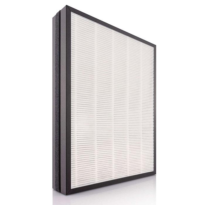 Philips AC4158/00 угольный HEPA-фильтрAC4158/00Комбинированный угольный и HEPA-фильтр удерживает невидимые глазу частицы, аллергены, бактерии и вирусы, а также различные вредные газы, включая формальдегид. Этот высокоэффективный фильтр был разработан в сотрудничестве со специалистами из Германии.Удерживает сверхмелкие частицы размером более 20 нанометровФункция оповещения системы контроля качества воздуха напоминает о необходимости замены фильтраФункция блокировки системы контроля качества воздуха гарантирует всегда чистый воздух у вас в домеУдобный в установке фильтр