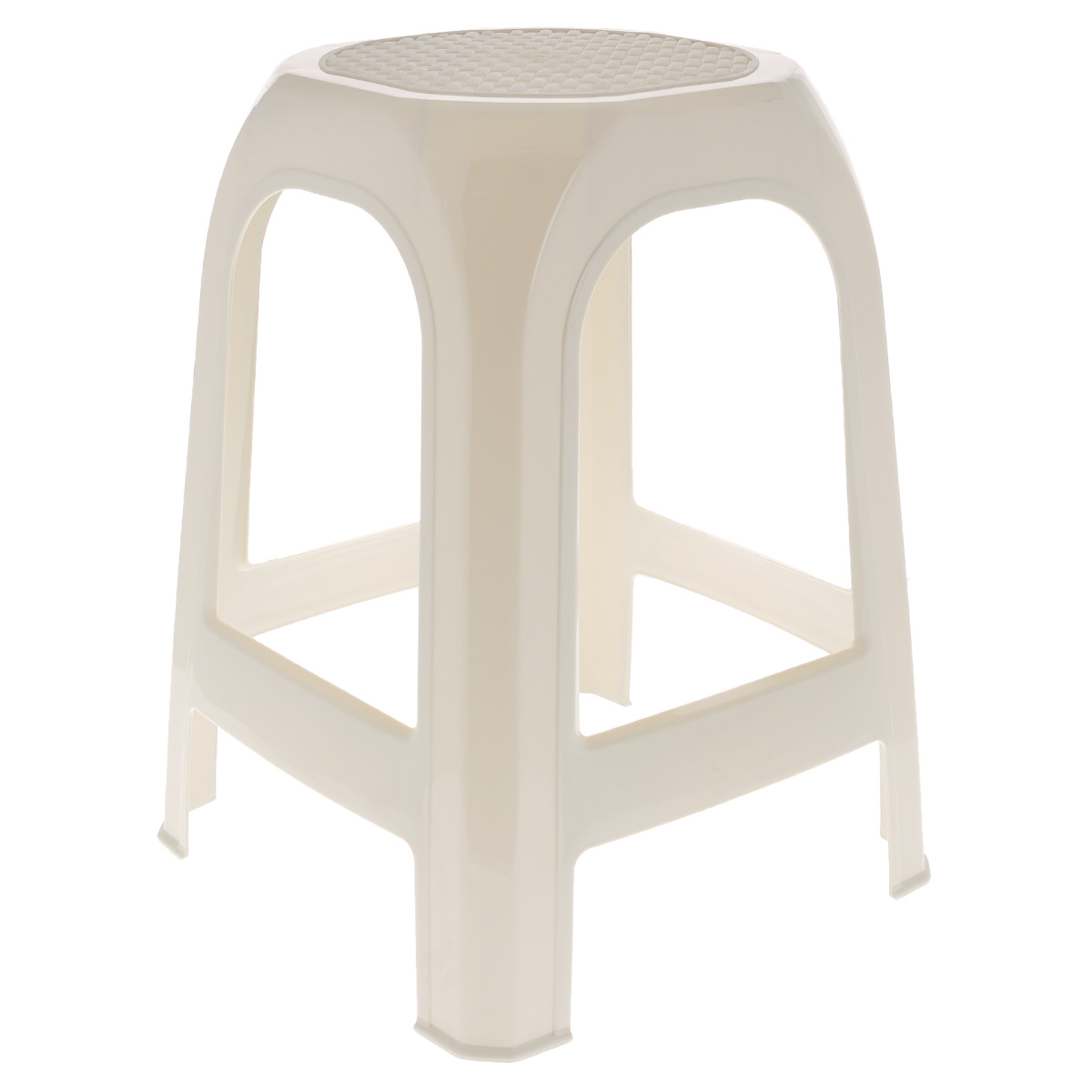 """Табурет """"Idea"""" выполнен из прочного высококачественного пластика. Надежная опора ножек предотвращает опрокидывание табурета. Сиденье изделия оформлено рельефным рисунком под плетение. Такой табурет обязательно пригодятся и дома, чтобы разместить гостей за кухонным столом, и на даче, чтобы организовать место для отдыха или обеда на свежем воздухе."""
