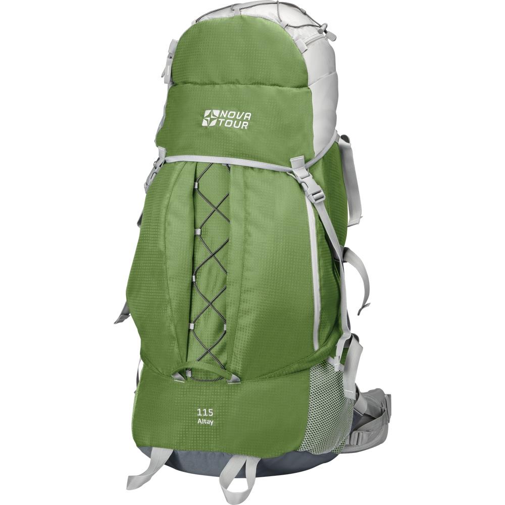 Рюкзак экспедиционный Nova Tour Алтай 115, цвет: серый, олива, 115 л сумка дорожная nova tour кэйр цвет коричневый 48 л